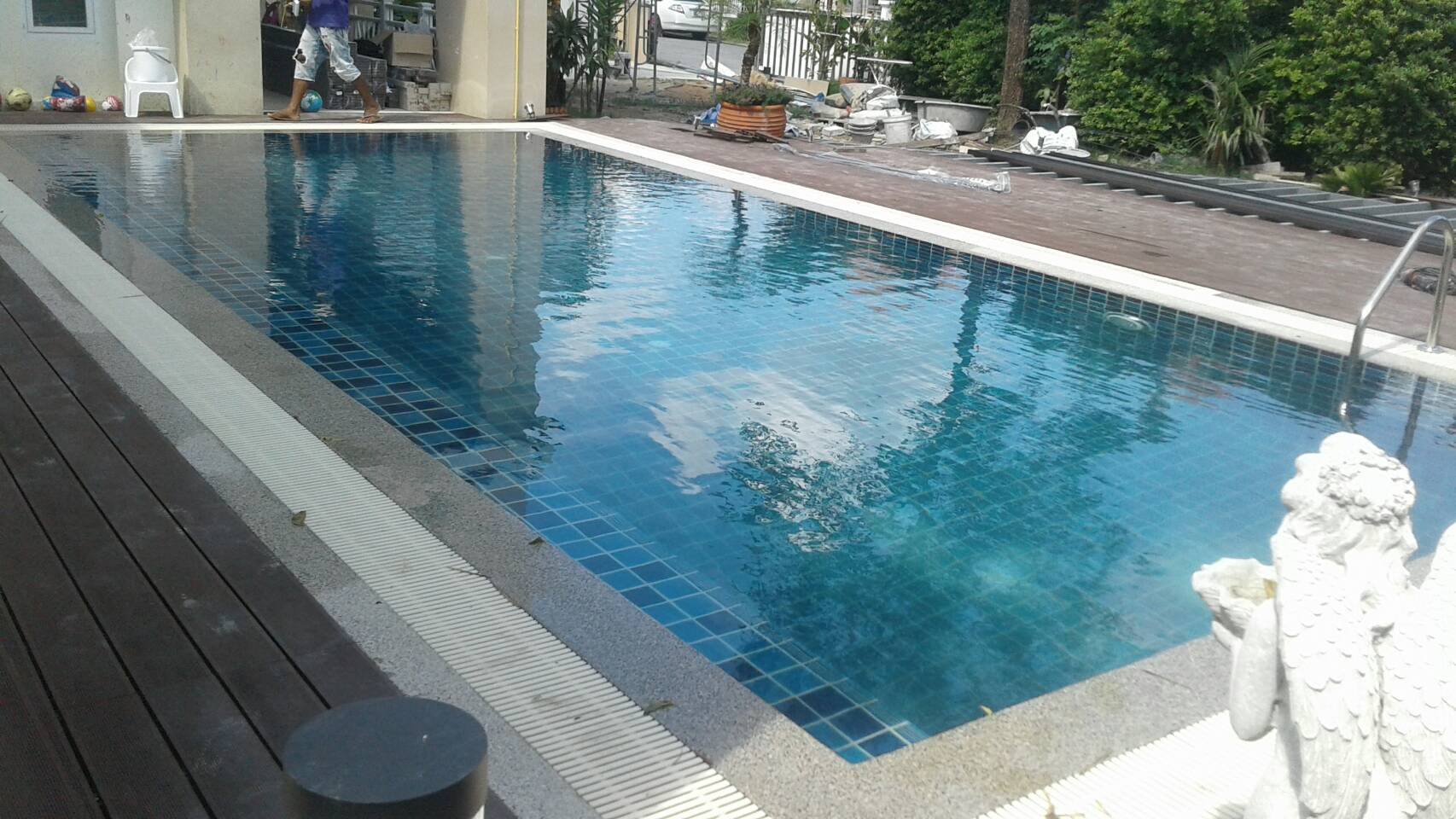 New Concrete Swimming Pool At Vintage 2 Ban Chang Rayong